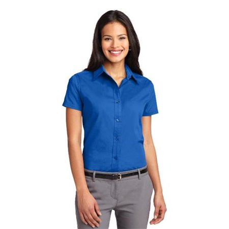 Port Authority L508 Ladies Short Sleeve Easy Care Shirt, Strong Blue - 6XL - image 1 of 1