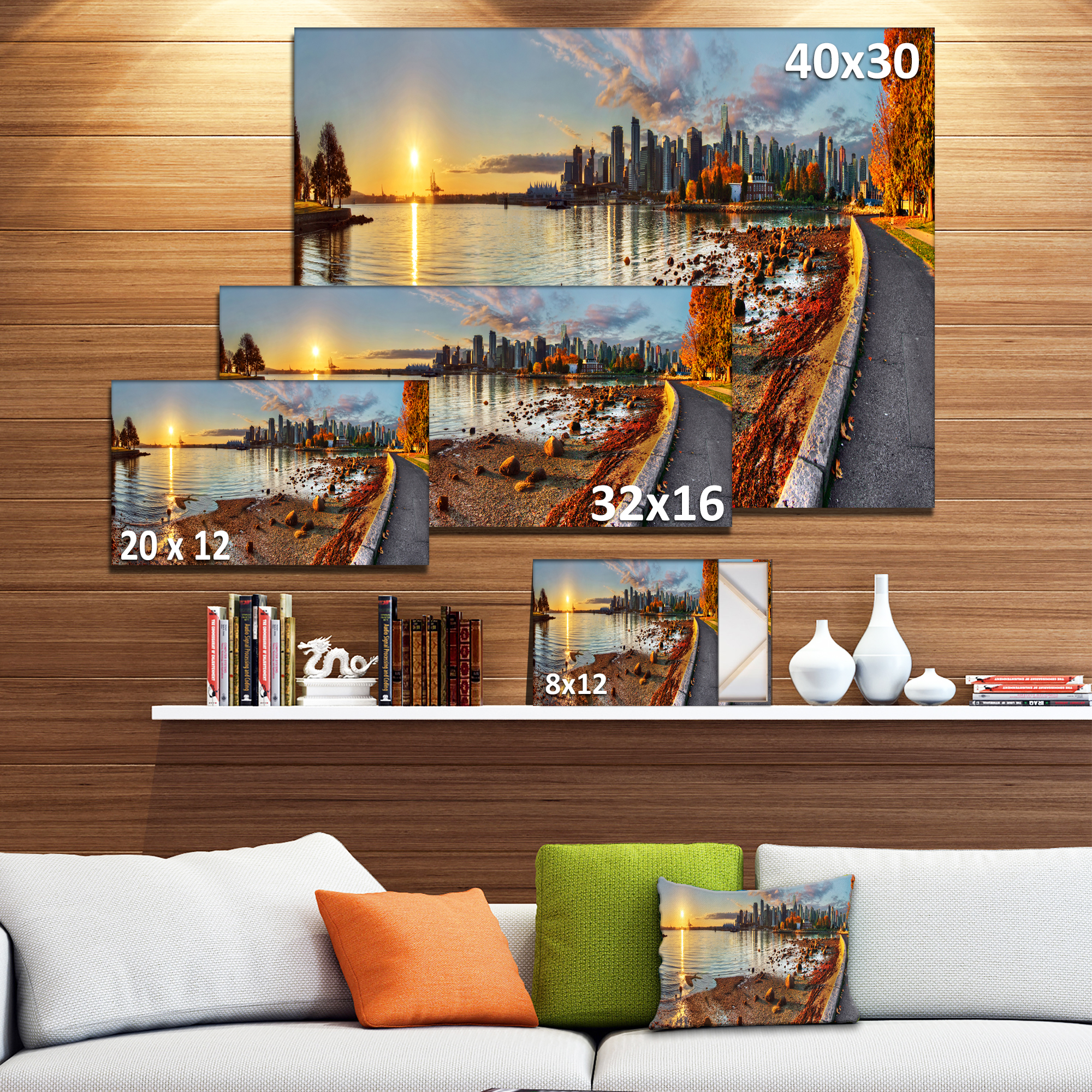 Vancouver Downtown Panorama - Landscape Canvas Art Print - image 2 of 4