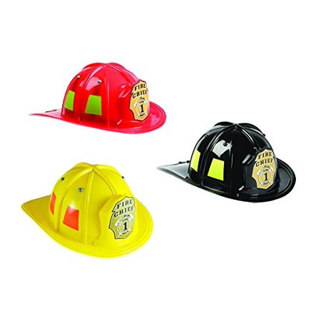 Aeromax Jr. Firefighter Helmet Assortment Black, Red, and Yellow](Firefighter Helmet Lights)