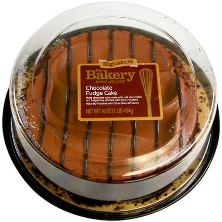 The Bakery Signature Chocolate Fudge Cake 16 Oz Walmart Com