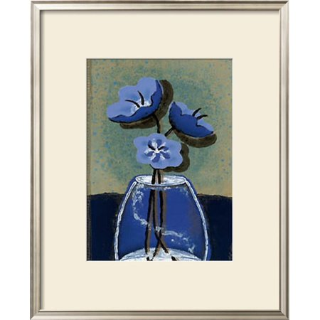 Potted Flowers II Framed Art Print Wall Art  By Monica Ibanez - 25x30.5