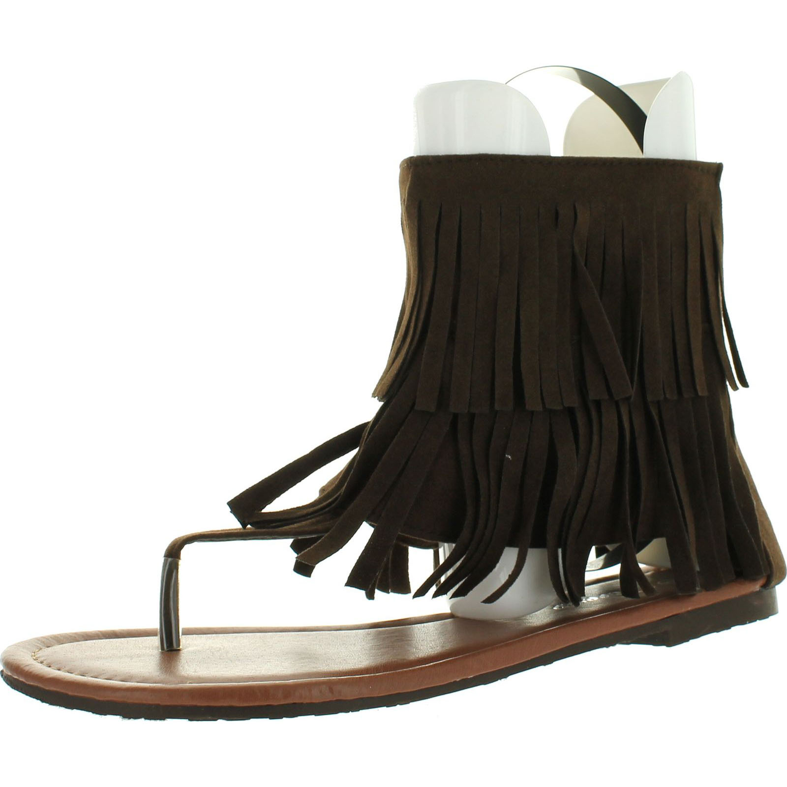 Forever Link Womens Anika-56 Faux Nubuck Leather Winged Gladiator Sandal