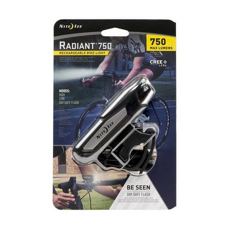 Nite Ize Radiant 750 Rechargeable Bike Light, 750 Lumens Headlight - Nite Light Hunting Lights