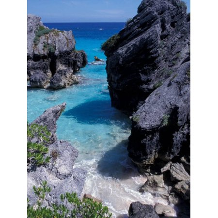 Beach on South Coast, Bermuda, Caribbean Print Wall Art By Alan (South Sea Rattan Bermuda)
