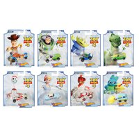 2019 Hot Wheels 1/64 Disney Pixar Toy Story 4 Complete Set of 8 Collectible Character Cars - Woody, Buzz Lightyear, Alien, Rex, Forky, Bo Peep, Duke Caboom, Ducky & Bunny