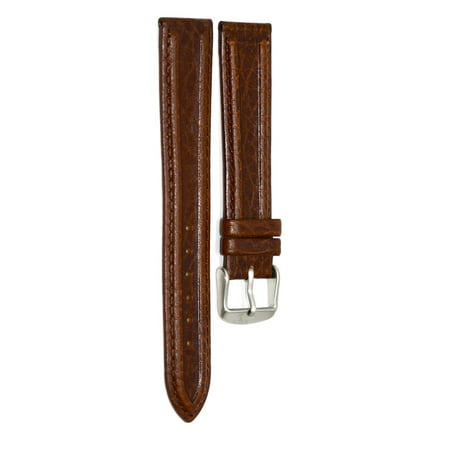 12mm xl dark brown distressed tunneled leather watch band swiss army