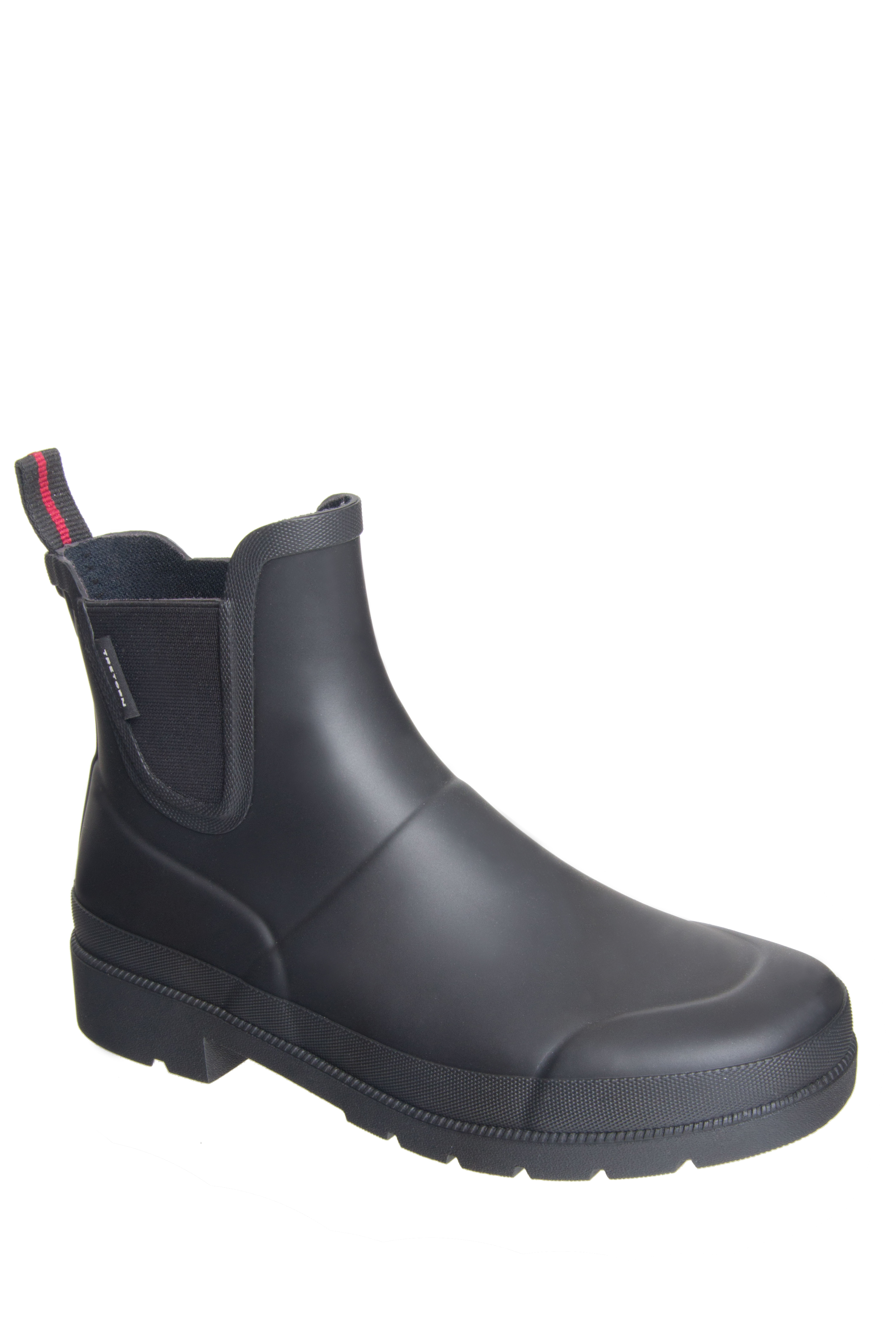 Click here to buy Tretorn Lina Low Heel Rain Boot Black.