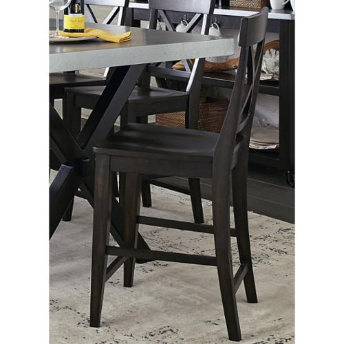Liberty Keaton Charcoal 24 Inch Counter Height Barstool Walmartcom