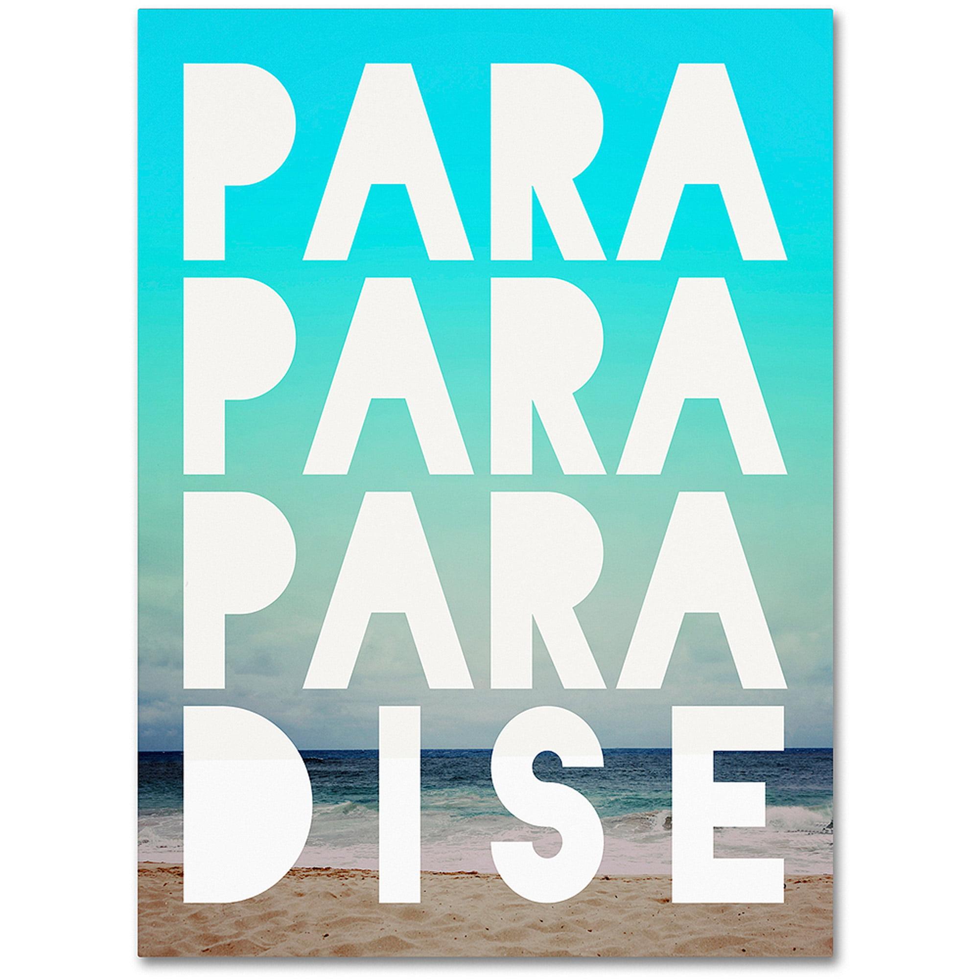 "Trademark Fine Art ""Paradise"" Canvas Art by Leah Flores"