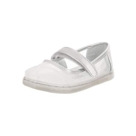 Cinderella Shoes For Kids (Toms Tiny Toddlers Mary Jane Silver Cinderella Slip-On)