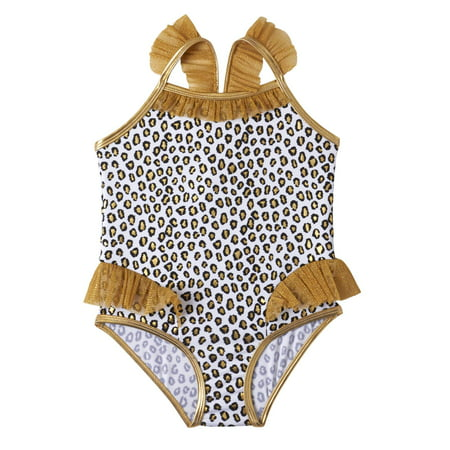 Baby Toddler Girl Animal Print One Piece Swimsuit