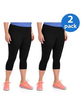 a68ab4db7a8a4 Product Image Danskin Now Women s Plus-Size Dri-More Capri Core Leggings  2pk Value Bundle