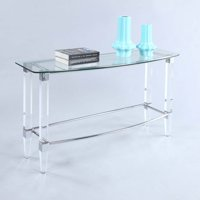 Chintaly Rectangular Glass Top Sofa Table