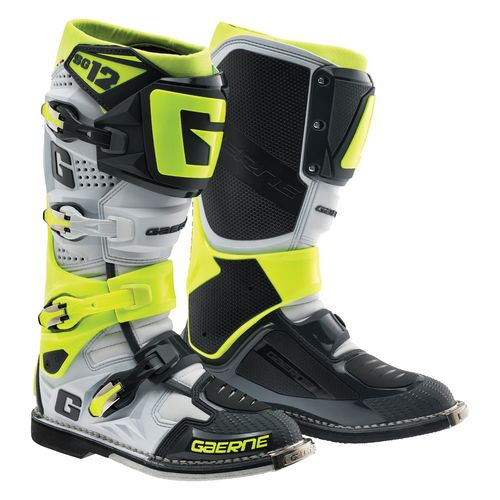 Gaerne SG-12 2016 MX/Offroad Boots White/Gray/Yellow