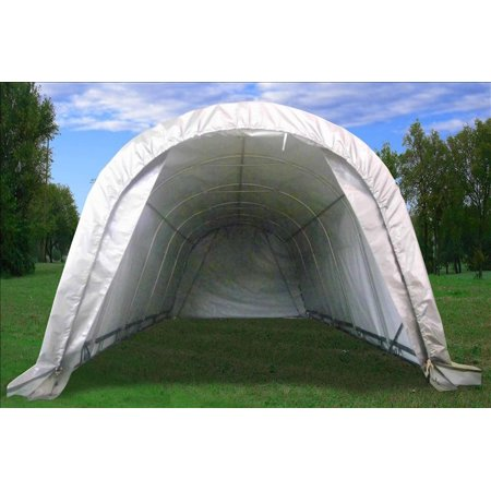 20'x12' Caport Boat Canopy Shelter Grey White - By DELTA (Boat Shelter)
