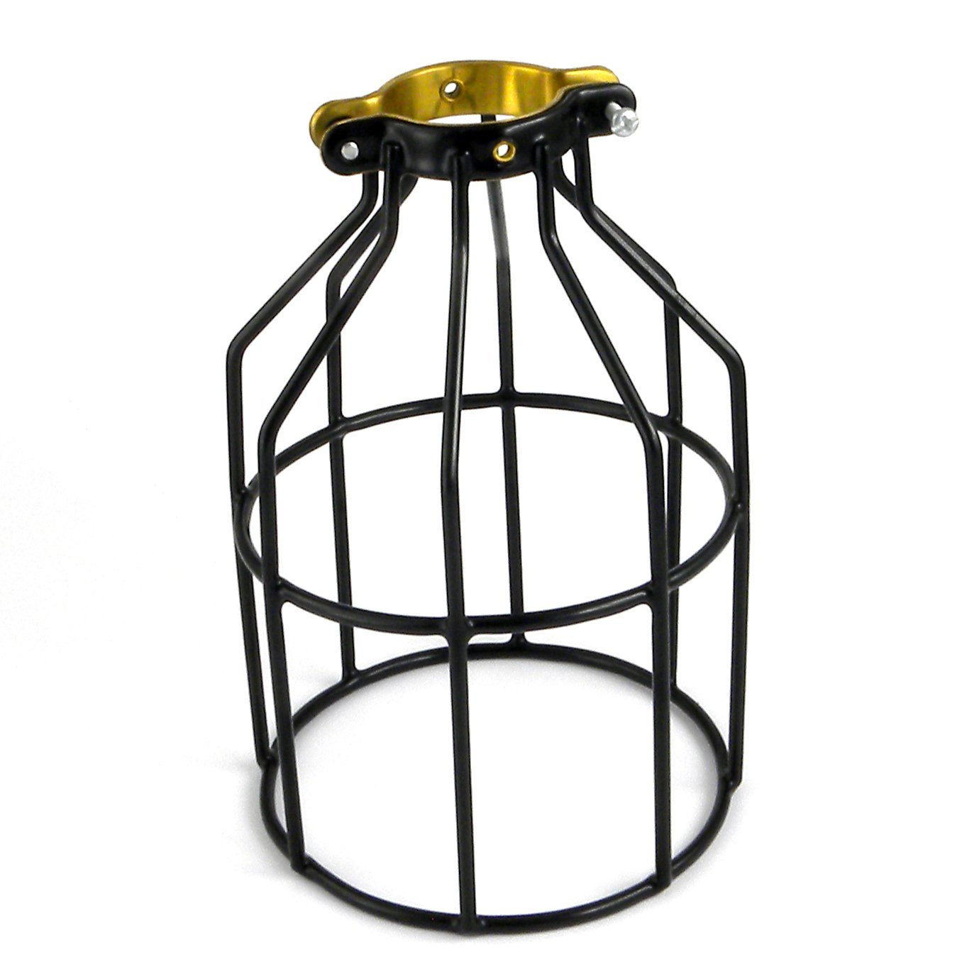 Newhouse Lighting Metal Lamp Guard For Pendant String Lights And Wiring A Single Bulb Light Fixture Vintage Holders Industrial Wire Iron Bird Cage 1 Pack