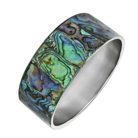 Abalone Bracelet (Green Shadows Abalone Shell Link)