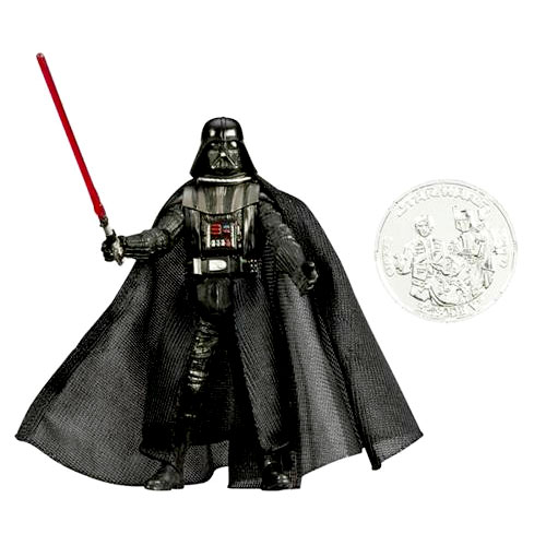 Star Wars Saga Legends Action Figure: Darth Vader with Exclusive Collector Coin
