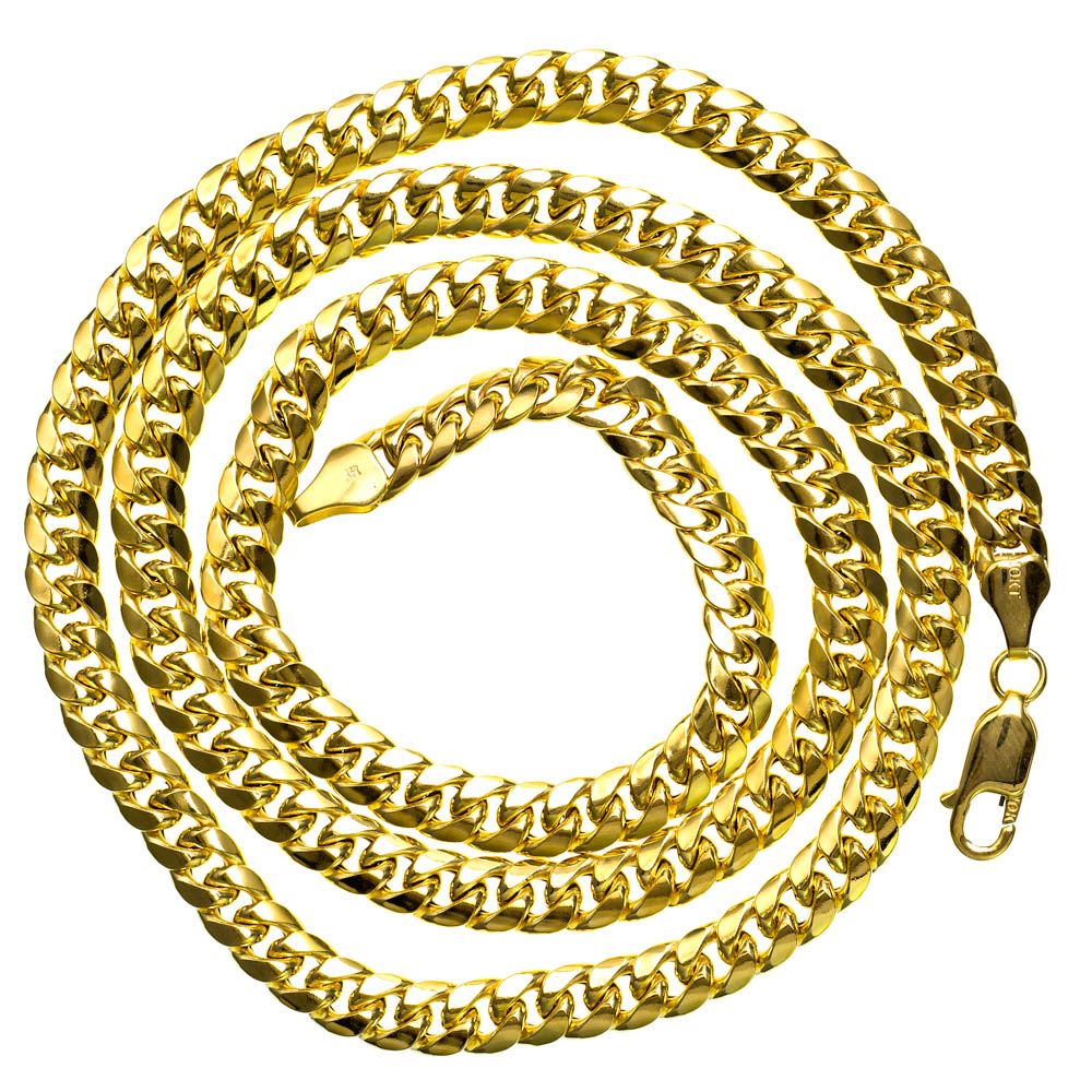 Solid 10K Yellow Gold Mens Italy Cuban Link Chain 26.47 gram 8.8 mm Necklace 26 inches by J&H Jewelers