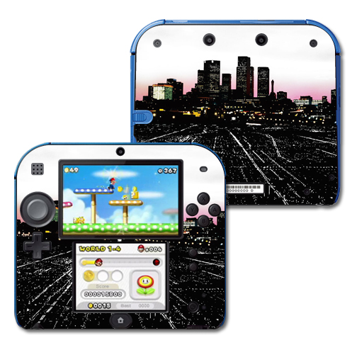 Mightyskins Protective Vinyl Skin Decal Cover for Nintendo 2DS wrap sticker skins Urban Night