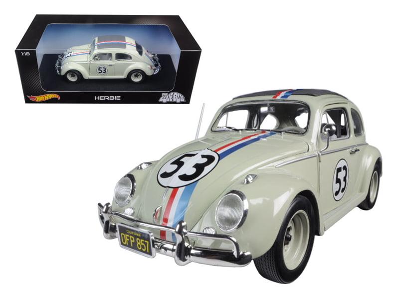"""Volkswagen Beetle The Love Bug"""" Herbie #53 1 18 Diecast Model Car by Hotwheels"""" by Hot Wheels"""
