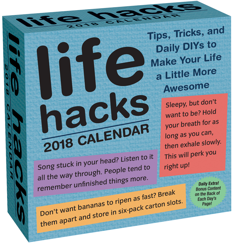 Andrews McMeel Publishing Life Hacks 2018 Box Calendar