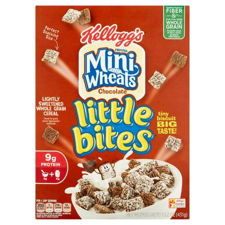 Kelloggs Frosted Mini Wheats Chocolate Little Bites 15 2 Oz