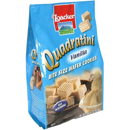 Loacker Quadratini Vanilla Wafer Cookies, 8.82 oz (Pack of 8)