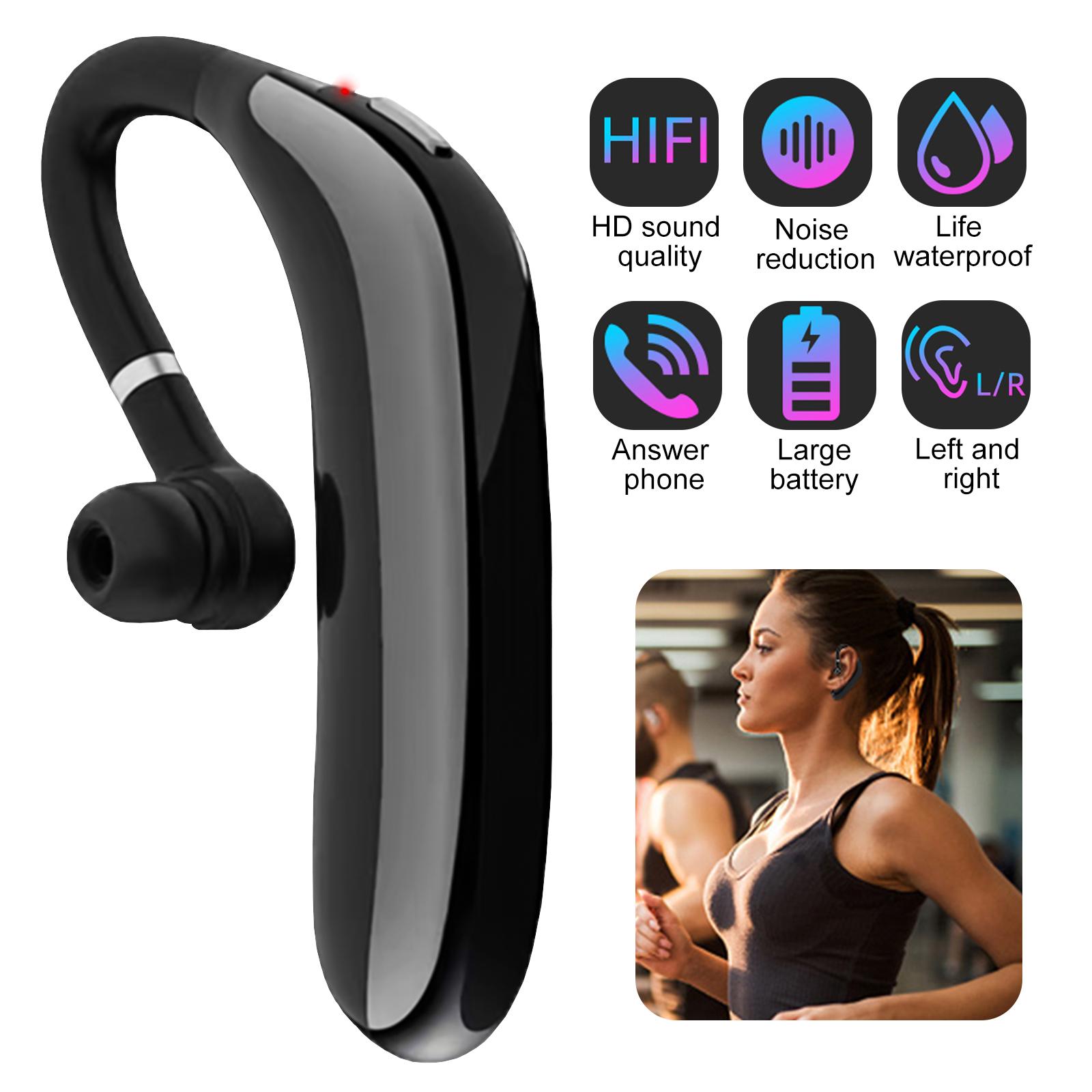 Tsv Bluetooth Headset Wireless Business Bluetooth 5 0 Earpiece Noise Reducing Wireless Headphones Built In Mic 45hr Talktime Ultralight Hands Free Earphones For Cell Phones Office Trucker Driving Walmart Com Walmart Com
