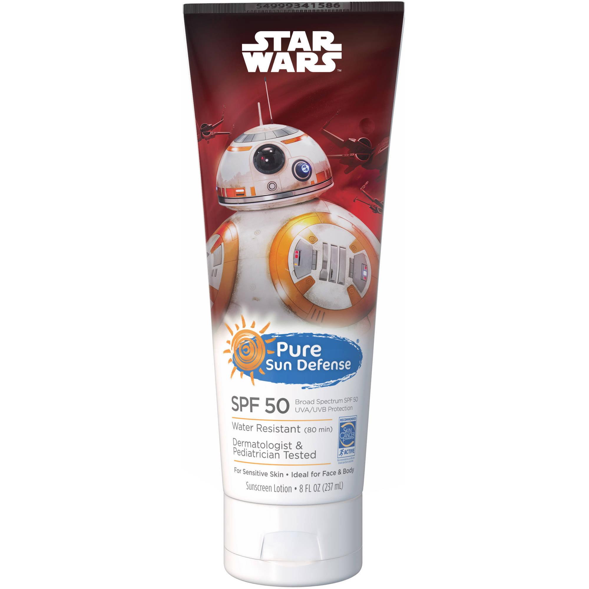 Pure Sun Defense Star Wars Sunscreen Lotion, SPF 50, 8 fl oz