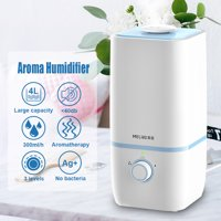 MEILING Adjustable Ultrasonic Cool Mist Aroma Humidifier, Auto Shutoff Ultra Quiet for Home Room Baby, 4L