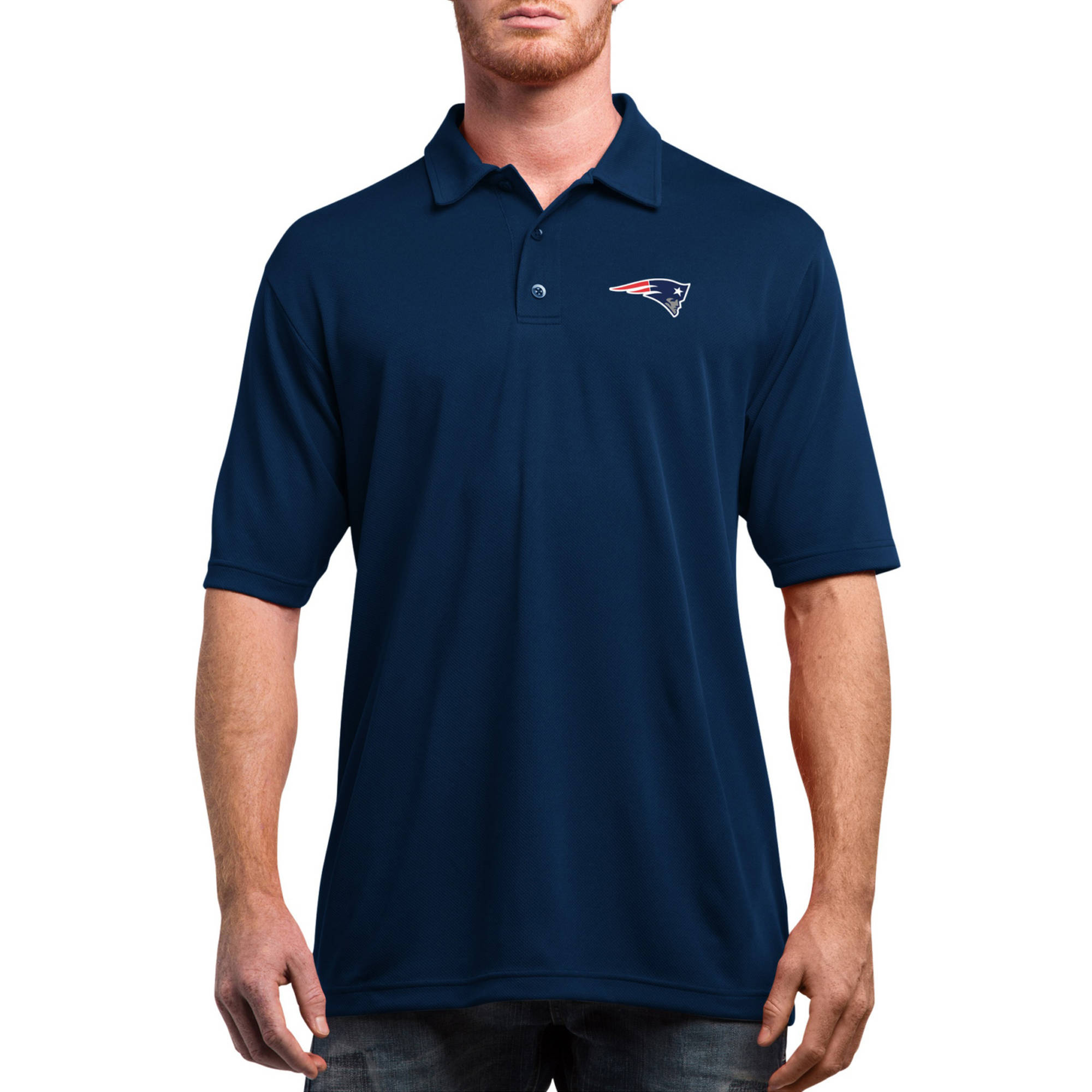 NFL New England Patriots On to the Win Men's Short Sleeve Polo