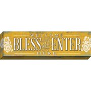 Carpentree Welcome Horizontal Giclee Textual Art on Wrapped Canvas