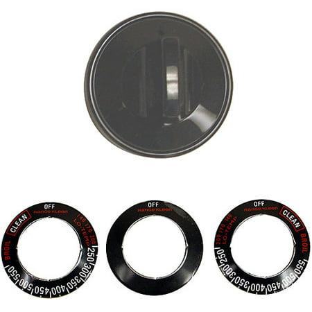- Range Kleen 6-Piece Single Replacement Knob Kit, Gas Ranges, Black