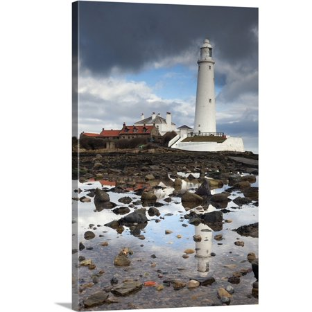 Great American Lighthouses (Great BIG Canvas | John Short Premium Thick-Wrap Canvas entitled St. Mary's Lighthouse, Whitley Bay, Northumberland, England )