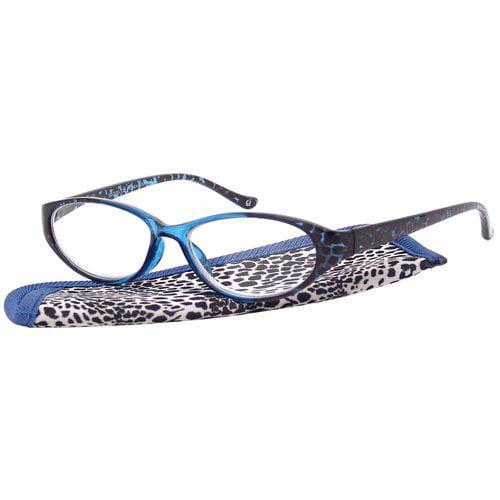 Foster Grant Women's Plastic Reading Glasses, Sibyl Blue