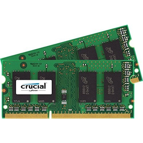 Crucial 32GB (2x16GB) DDR3 1600MHz 1.35V Non-ECC Unbuffered 204pin SoDIMM Memory