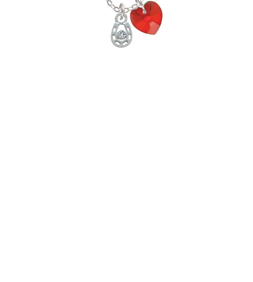 """Mini Horseshoe with Clear Crystal  - Mom Sophia Necklace, 18""""+1"""""""