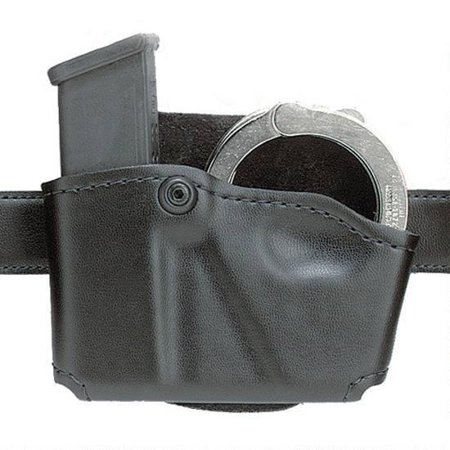 Safariland Double Mag Pouch - SAFARILAND 573 HOLDS 1 MAG & 1 PAIR CUFFS BLACK SUEDE
