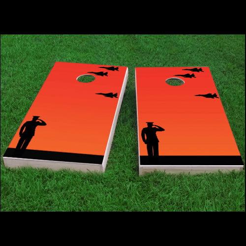 Custom Cornhole Boards Missing Man Flight Formation Salute Cornhole Game (Set of 2)