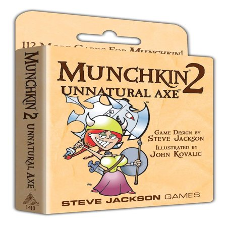 Munchkin 2 - Unnatural Axe, Requires Munchkin or Munchkin Deluxe to play By Steve Jackson Games (Munchkin Land)