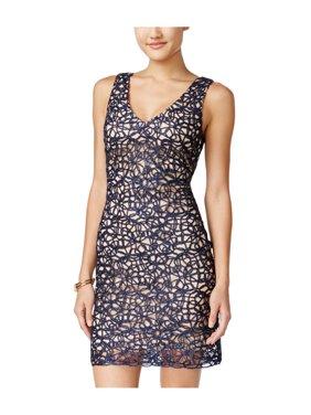 cbc4462b5 Product Image B. Darlin Womens Lacey Bodycon Dress navyrose 13/14 - Juniors