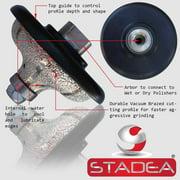 "STADEA Diamond Profile Wheel Profile Grinding Wheel Ogee 1 1/4"" for Grinder Wet Stone Polisher Granite Marble Concrete Shaping Profiling"