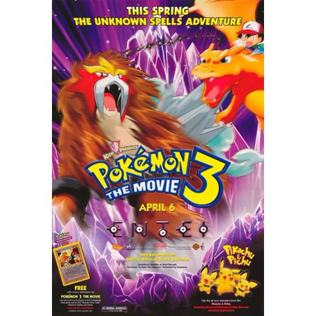 Pokemon 3 the Movie Movie Poster (11 x 17) - Walmart.com