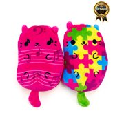 Cats vs Pickles Plushies 2-pack Mew-sical Meow and Puzzle Cat, For Ages 4+