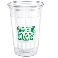 Game Day Football Plastic Cups, 16oz, 8ct by Unique Industries