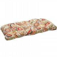 Zoe Multicolor Wicker Loveseat Cushion