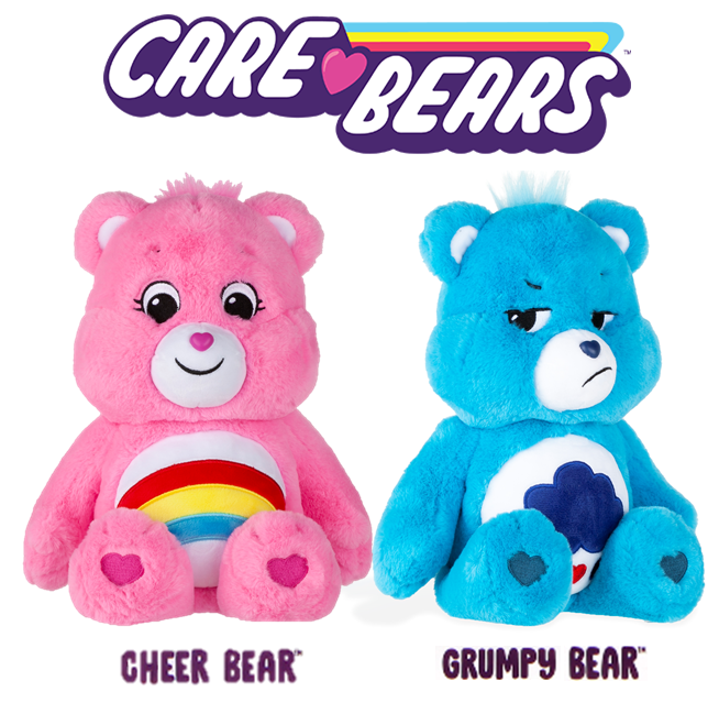 """Care Bears 14/"""" GRUMPY BEAR Special Care Coin Included  BLUE  PLUSH 2020"""