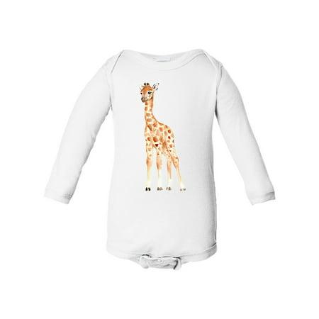 Giraffe Baby Boy Baby Girl Infant Long Sleeve Cotton Bodysuit (Custom Onesies)