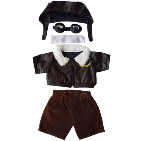 Pilot Outfit with Goggles Teddy Bear Clothes Fits Most 14